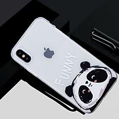 Недорогие Кейсы для iPhone X-Кейс для Назначение Apple iPhone X / iPhone 8 С узором Кейс на заднюю панель Панда Мягкий ТПУ для iPhone X / iPhone 8 Pluss / iPhone 8