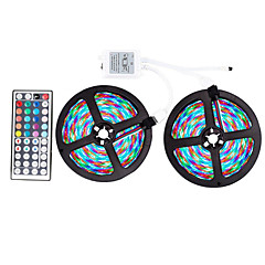 preiswerte LED Lichtstreifen-ZDM® 2x5M Lichtsets / Leuchtbänder RGB 600 LEDs SMD 2835 / 2835 SMD 1 44Tastenfernbedienung RGB Schneidbar / Party / Dekorativ 12 V 1 set / IP65 / Selbstklebend
