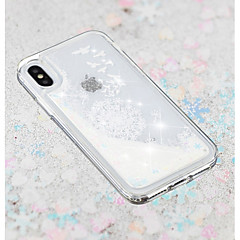 Недорогие Кейсы для iPhone-Кейс для Назначение Apple iPhone X / iPhone 8 Plus Движущаяся жидкость / Прозрачный / С узором Кейс на заднюю панель одуванчик Мягкий ТПУ для iPhone X / iPhone 8 Pluss / iPhone 8