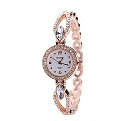 preiswerte Damenuhren-Damen Kleideruhr / Armbanduhr Chinesisch Neues Design / Armbanduhren für den Alltag / Imitation Diamant Legierung Band Freizeit / Modisch Silber / Rotgold