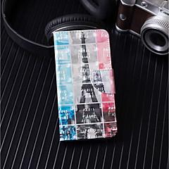 Недорогие Кейсы для iPhone 5-Кейс для Назначение Apple iPhone X / iPhone 8 Plus Кошелек / Бумажник для карт / со стендом Чехол Эйфелева башня Твердый Кожа PU для iPhone X / iPhone 8 Pluss / iPhone 8
