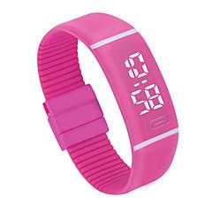 preiswerte Damenuhren-Herrn / Damen Sportuhr Chinesisch Chronograph / LCD / Armbanduhren für den Alltag Plastic Band Armreif / Minimalistisch Schwarz / Weiß / Rosa