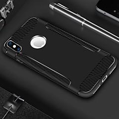 お買い得  iPhone 5S/SE ケース-ケース 用途 Apple iPhone X / iPhone 8 Plus 耐衝撃 / つや消し バックカバー ソリッド / ライン/ウェイブ ソフト TPU のために iPhone X / iPhone 8 Plus / iPhone 8