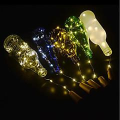 お買い得  LED アイデアライト-BRELONG® 5個 ワインボトルストッパー LEDナイトライト 温白色 / ホワイト / レッド ボタン電池駆動 創造的 / ウェディング / デコレーション <5 V