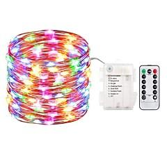 お買い得  LED ストリングライト-ZDM® 5m ストリングライト 50 LED SMD 0603 1 13キーリモコン 温白色 / クールホワイト / ブルー 防水 / 新デザイン 単3乾電池 1セット