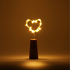 preiswerte Ausgefallene LED-Beleuchtung-Brelong 5 Stück 0,5 m 5led Weinflasche Kupferdraht Licht<5v weißes Licht / warmes weißes Licht / blaues Licht / grünes Licht / purpurrotes Licht