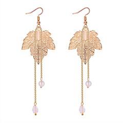 preiswerte Ohrringe-Damen Stilvoll Tropfen-Ohrringe - Künstliche Perle Blattform Modisch, Hyperbel Gold / Silber Für Party / Abend / Maskerade