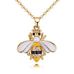 preiswerte Halsketten-Damen Stilvoll Anhängerketten - Strass Biene Europäisch, Modisch Gelb, Rot 40 cm Modische Halsketten Schmuck 1pc Für Normal, Alltag
