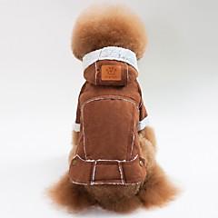 お買い得  犬用ウェア&アクセサリー-犬用 / 猫用 コート / ジャケット 犬用ウェア ソリッド コーヒー / Brown / レッド ラムファー コスチューム ペット用 男女兼用 カジュアル/普段着 / ウォームアップ