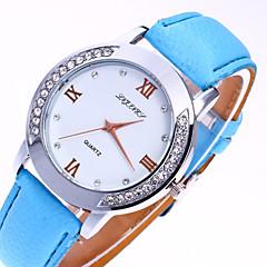 お買い得  レディース腕時計-女性用 リストウォッチ クォーツ カジュアルウォッチ 模造ダイヤモンド PU バンド ハンズ ファッション 多色 ブラック / 白 / ブルー - グリーン ライトブルー カーキ色