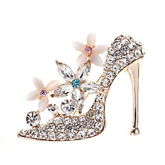 cheap Brooches-Women's Opal 3D Brooches - Rhinestone Shoe Ladies, Simple, Elegant Brooch Jewelry Gold For Daily
