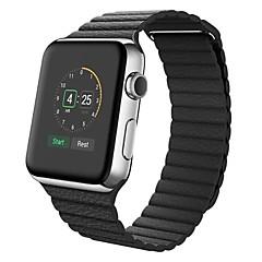 お買い得  腕時計ベルト-カーフヘアー 時計バンド ストラップ のために Apple Watch Series 3 / 2 / 1 ブラック / ブルー / ブラウン 23センチメートル / 9インチ 2.1cm / 0.83 Inch