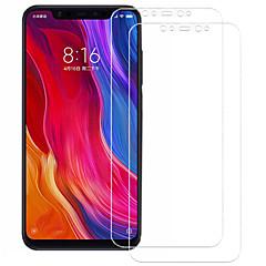 Недорогие Защитные плёнки для экранов Xiaomi-asling протектор экрана для xiaomi xiaomi mi 8 закаленное стекло 2 шт. защита переднего экрана 9ч. твердость / 2.5d изогнутый край / взрывозащита