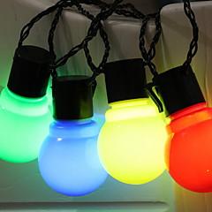 preiswerte LED Lichtstreifen-2,5 m Leuchtgirlanden 10 LEDs Warmes Weiß / Weiß / Mehrfarbig Neues Design / Dekorativ / Cool AA-Batterien angetrieben