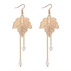 preiswerte Ohrringe-Damen Hohl Tropfen-Ohrringe - Künstliche Perle Blattform Einfach, Klassisch, Europäisch Gold / Silber Für Party / Alltag