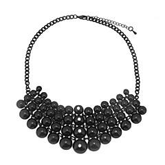 preiswerte Halsketten-Damen Geometrisch Stapel Statement Ketten - Strass Einfach, Europäisch, Hyperbel Schwarz 45 cm Modische Halsketten Schmuck 1pc Für Normal, Alltag