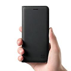 お買い得  その他のケース-ケース 用途 OnePlus 5 / OnePlus 5T カードホルダー / フリップ フルボディーケース ソリッド ハード 本革 のために OnePlus 6 / One Plus 5 / OnePlus 5T