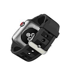 お買い得  腕時計用アクセサリー-シリコーン 時計バンド ストラップ のために Apple Watch Series 3 / 2 / 1 ブラック 23センチメートル / 9インチ 2.1cm / 0.83 Inch