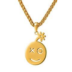 preiswerte Halsketten-Damen Anhängerketten - Edelstahl Gesicht Modisch, nette Art Gold, Rotgold 55 cm Modische Halsketten Schmuck 1pc Für Geschenk, Alltag