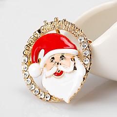 お買い得  ブローチ-女性用 クラシック ブローチ  -  サンタスーツ シンプル, ベーシック ブローチ ゴールド 用途 クリスマス