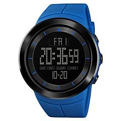 お買い得  メンズ腕時計-SKMEI 男性用 スポーツウォッチ 軍用腕時計 日本産 デジタル 50 m アラーム クロノグラフ付き 2タイムゾーン PU バンド デジタル カジュアル ファッション ブラック / ブルー / レッド - グリーン ブルー カーキ色 1年間 電池寿命