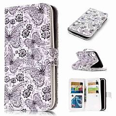 Недорогие Кейсы для iPhone X-Кейс для Назначение Apple iPhone XR / iPhone XS Max Кошелек / Бумажник для карт / со стендом Чехол Бабочка Твердый Кожа PU для iPhone XS / iPhone XR / iPhone XS Max