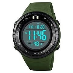 preiswerte Armbanduhren für Paare-SKMEI Armbanduhr Digitaluhr Sender Wasserdicht, Kalender, Stopuhr Blau / Khaki / Schwarz / Weiß / Nachts leuchtend