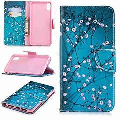 お買い得  iPhone 5S/SE ケース-ケース 用途 Apple iPhone XR / iPhone XS Max ウォレット / カードホルダー / スタンド付き フルボディーケース 木 ハード PUレザー のために iPhone XS / iPhone XR / iPhone XS Max