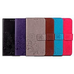 Недорогие Чехлы и кейсы для Nokia-Кейс для Назначение Nokia Nokia 7 Plus Бумажник для карт / Флип Чехол Однотонный / Мандала Мягкий Кожа PU для Nokia 7 Plus