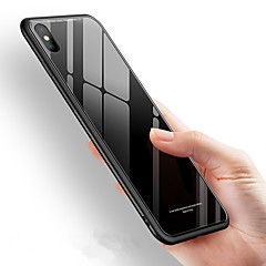 Недорогие Кейсы для iPhone 7-Кейс для Назначение Apple iPhone X / iPhone 8 Защита от удара / Зеркальная поверхность Кейс на заднюю панель Однотонный Твердый Закаленное стекло для iPhone X / iPhone 8 Pluss / iPhone 8