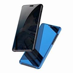 Недорогие Чехлы и кейсы для Huawei Mate-Кейс для Назначение Huawei Mate 10 pro / Mate 10 lite Зеркальная поверхность / Флип Чехол Однотонный Твердый ПК для Mate 10 / Mate 10 pro / Mate 10 lite