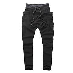 tanie Męskie spodnie i szorty-Męskie Szczupła Spodnie dresowe Spodnie Solidne kolory