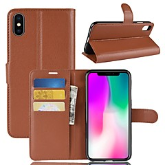 abordables Fundas para iPhone X-Funda Para Apple iPhone XS / iPhone XR Cartera / Soporte de Coche / Flip Funda de Cuerpo Entero Un Color Dura Cuero de PU para iPhone XS / iPhone XR / iPhone XS Max