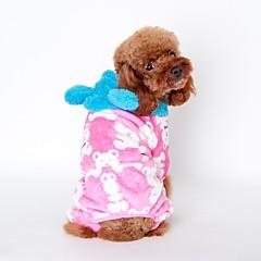 お買い得  犬用ウェア&アクセサリー-犬用 / 猫用 パジャマ 犬用ウェア キャラクター / ベア コーヒー / ピンク コーラルフリース100% コスチューム ペット用 男女兼用 カジュアル/普段着 / ウォームアップ
