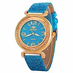 お買い得  レディース腕時計-女性用 ドレスウォッチ リストウォッチ クォーツ 新デザイン カジュアルウォッチ 模造ダイヤモンド PU バンド ハンズ カジュアル ファッション ブラック / 白 / ブルー - ブルー ピンク ライトブルー 1年間 電池寿命