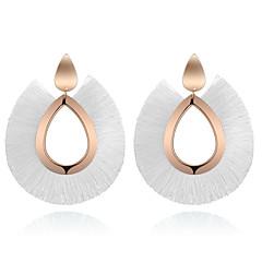 preiswerte Ohrringe-Damen Quaste Ohrring - Tropfen damas Retro Böhmische Modisch Schmuck Rot / Grün / Golden Für Normal Alltag 1 Paar
