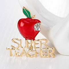 お買い得  ブローチ-女性用 クラシック ブローチ  -  Apple シンプル, ベーシック ブローチ ゴールド 用途 クリスマス
