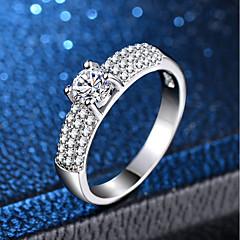 preiswerte Ringe-Damen Klassisch Ring - Platiert, Diamantimitate Liebe Klassisch, Romantisch 6 / 7 / 8 / 9 / 10 Silber Für Hochzeit Verlobung