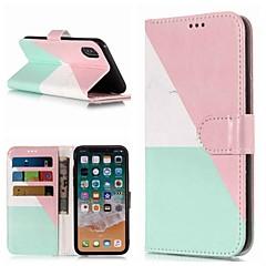 お買い得  iPhone 5S/SE ケース-ケース 用途 Apple iPhone XR / iPhone XS Max ウォレット / カードホルダー / スタンド付き フルボディーケース マーブル ハード PUレザー のために iPhone XS / iPhone XR / iPhone XS Max