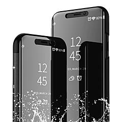 Недорогие Кейсы для iPhone-Кейс для Назначение Apple iPhone XS / iPhone XR со стендом / Зеркальная поверхность Чехол Однотонный Твердый Кожа PU для iPhone XS / iPhone XR / iPhone XS Max