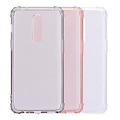 お買い得  その他のケース-ケース 用途 OnePlus OnePlus 6 耐衝撃 / 半透明 バックカバー ソリッド ソフト TPU のために OnePlus 6