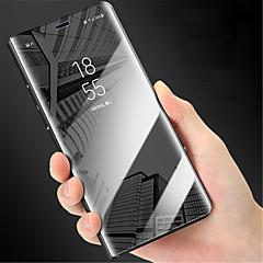 Недорогие Чехлы и кейсы для Huawei Mate-Кейс для Назначение Huawei Mate 9 Pro Зеркальная поверхность / Флип Чехол Однотонный Твердый ПК для Huawei Mate 8 / Mate 9 / Mate 9 Pro