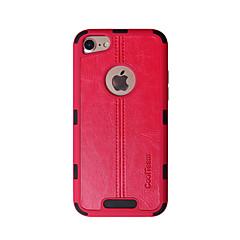 Недорогие Кейсы для iPhone-Кейс для Назначение Apple iPhone 7 Защита от удара Кейс на заднюю панель Однотонный / Полосы / волосы Твердый ТПУ для iPhone 7