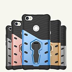Недорогие Чехлы и кейсы для Xiaomi-Кейс для Назначение Xiaomi Redmi Примечание 5A Защита от удара / со стендом Кейс на заднюю панель Однотонный Твердый ПК для Redmi Note 5A