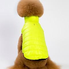 お買い得  犬用ウェア&アクセサリー-犬用 / 猫用 コート / ベスト 犬用ウェア ソリッド パープル / グリーン / ピンク フリース コスチューム ペット用 男性 ウォームアップ / シンプルなスタイル