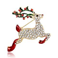 お買い得  ブローチ-女性用 クラシック / 3D ブローチ  -  ゴールドメッキ Elk, アニマル クラシック, ヴィンテージ ブローチ ゴールド 用途 クリスマス / 祭り