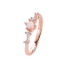 お買い得  指輪-女性用 クリスタル クラシック スタイリッシュ 指輪 テールリング  -  イミテーションダイヤモンド フラワー シンプル, 韓国語, 甘い ホワイト / グリーン / ピンク 用途 日常 お出かけ クラブ