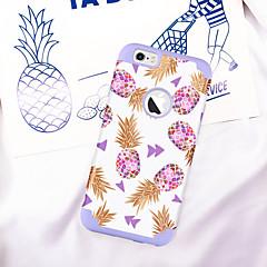 Недорогие Кейсы для iPhone-Случай bentoben для яблока iphone 6 / iphone 6s ударопрочный / imd / рисунок задней обложки растений / фруктовый мягкий ПК / силикагель для iphone 6s / iphone 6
