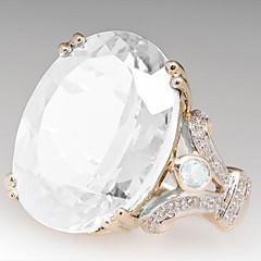 preiswerte Ringe-Damen Klassisch / 3D Bandring / Verlobungsring - vergoldet Einfach, Klassisch 7 / 8 Grün / Hellblau / Champagner Für Party / Alltag