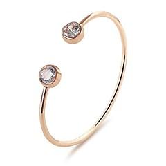 preiswerte Armbänder-Damen Kristall Klassisch Armreife / Manschetten-Armbänder - Kostbar Geometrisch, Modisch Armbänder Silber / Rotgold Für Verlobung / Verabredung
